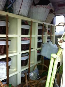 Inside the History Van - a positive Tardis!