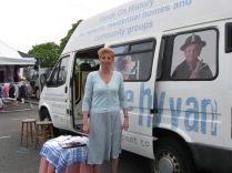 Jenny Bland and the History Van at Buxton Town Fair