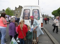 The History Van engages the Public in Wash Days from the Past at the 2014 Buxton Town Fair