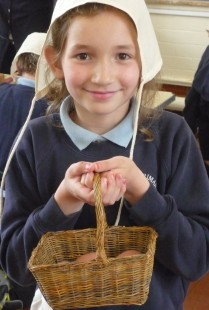 Medieval Life Session - Collecting eggs to take to market
