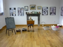 Heritage site - Grenoside Reading Room set up for the School Days session