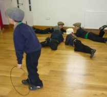 School Days session - Play time - marbles, bridgeboard and hoops