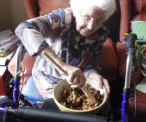 Christmas Reminiscence Session - stirring the Christmas Pudding and making a wish