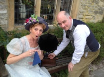 Jenny Bland & Duncan Miller of The Vulcan Cylinder Record Co. at the Old House Museum, Bakewell, Derbyshire
